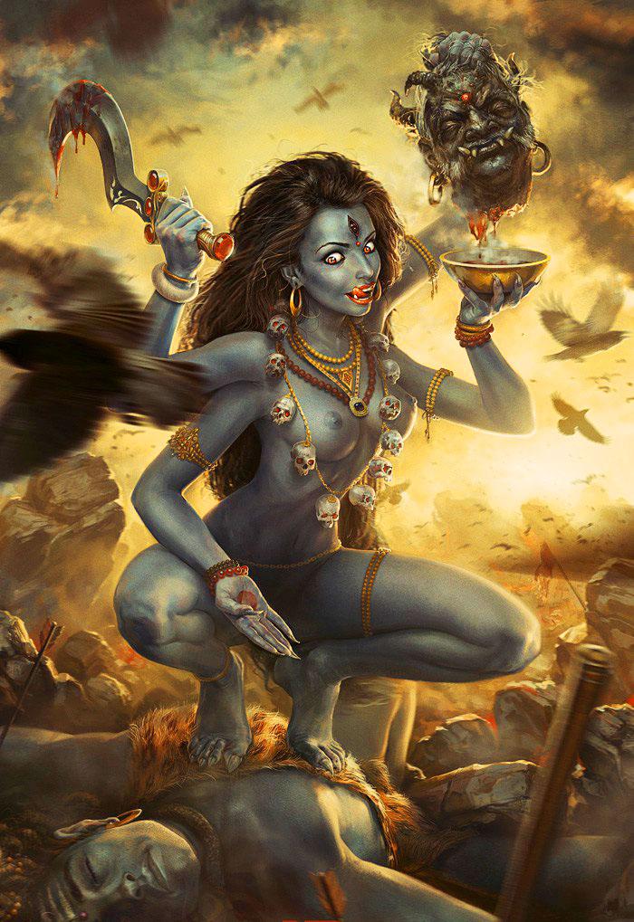 Богиня Кали – многоликая, устрашающая мать всего сущего